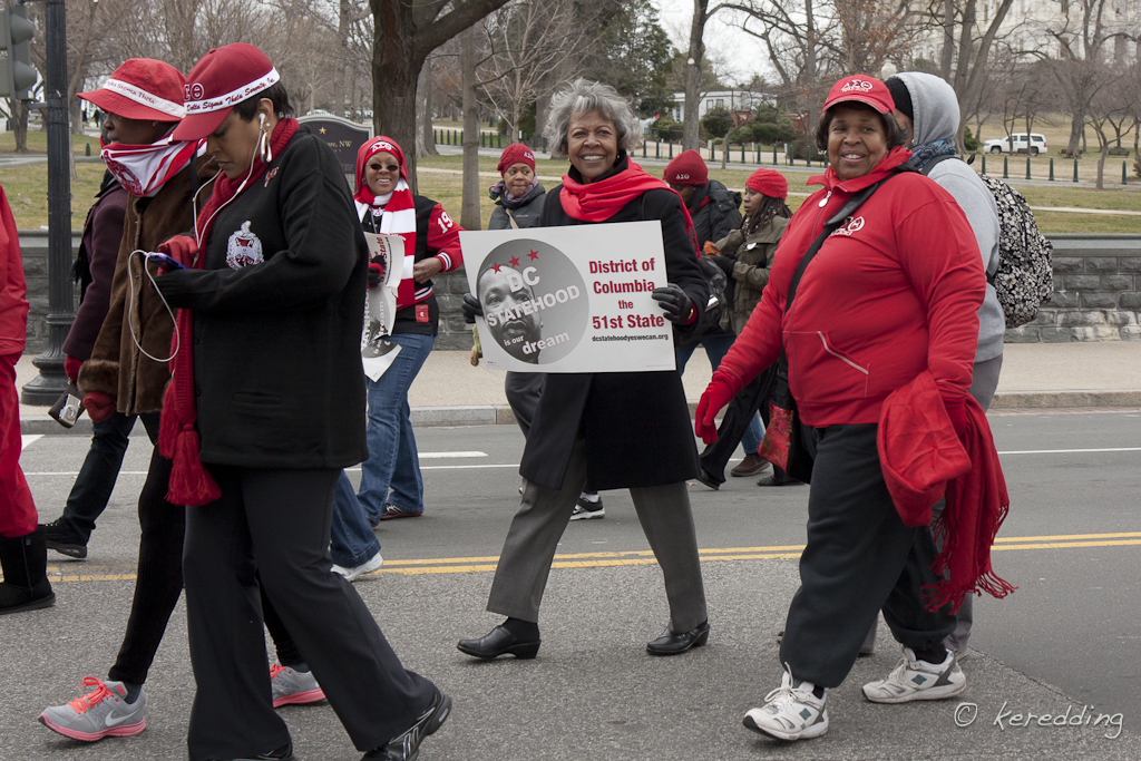 Re-enacting Women's Suffrage March with DST